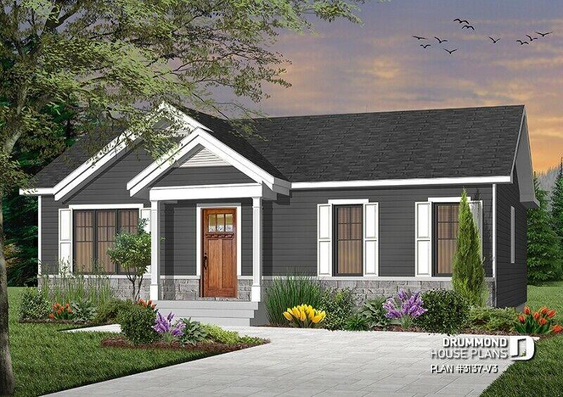 Exterior dark gray 3 bed 1 bath custom built home PEI contractor GI Adams Construction