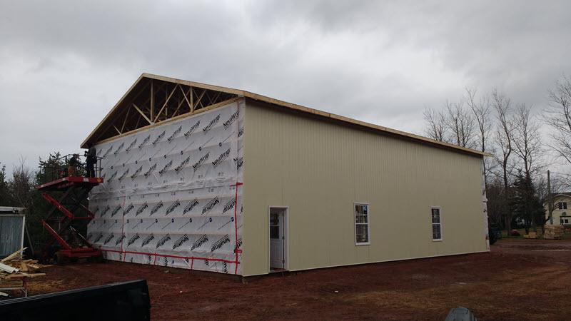 Custom steel building farm building warehouse PEI contractor