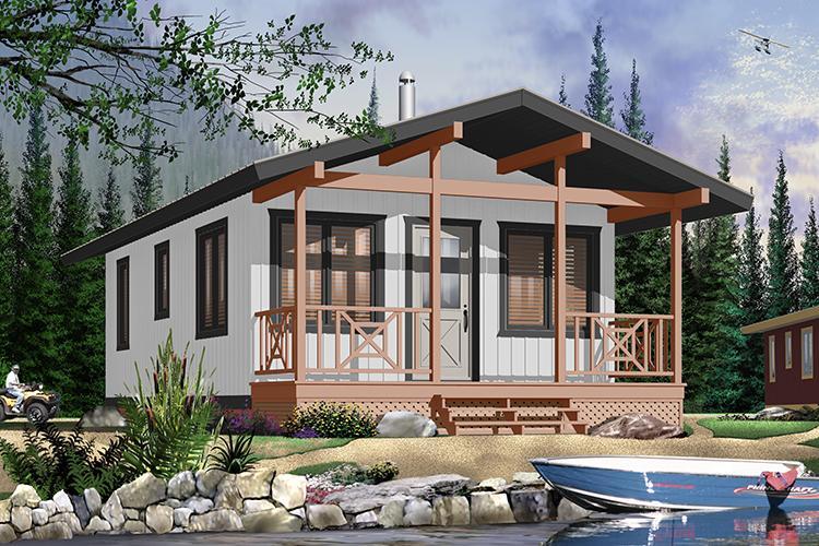 Exterior custom build 1 bed 1 bath cottage cabin PEI contractor