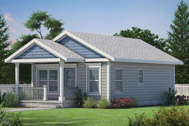 Exterior for 2 bed 1 bath custom home build PEI contractor GI Adams Construction