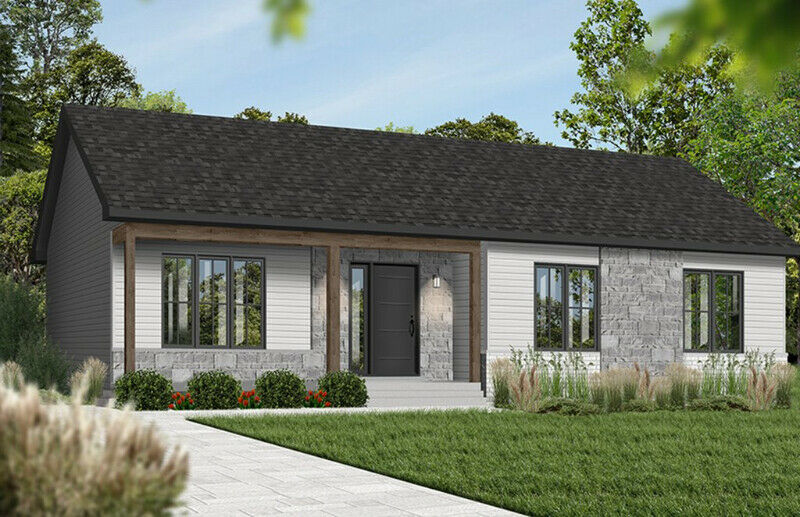 Exterior grey 3 bed 1 bath custom home build turnkey house PEI contractor