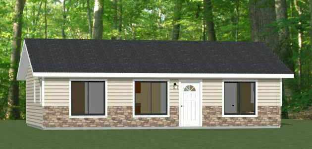 Exterior of 3 bed 2 bath turnkey home on PEI contractor GI Adams Construction