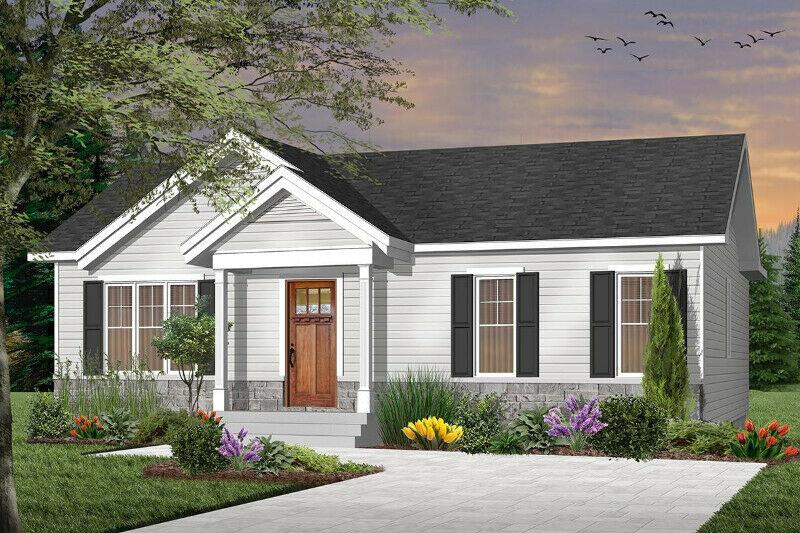 exterior of custom turnkey 3 bed 1 bath home build PEI contractor GI Adams Construction